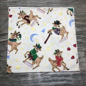 Rose Tree Dining - Christmas Reindeer Cotton Placemats & Napkins